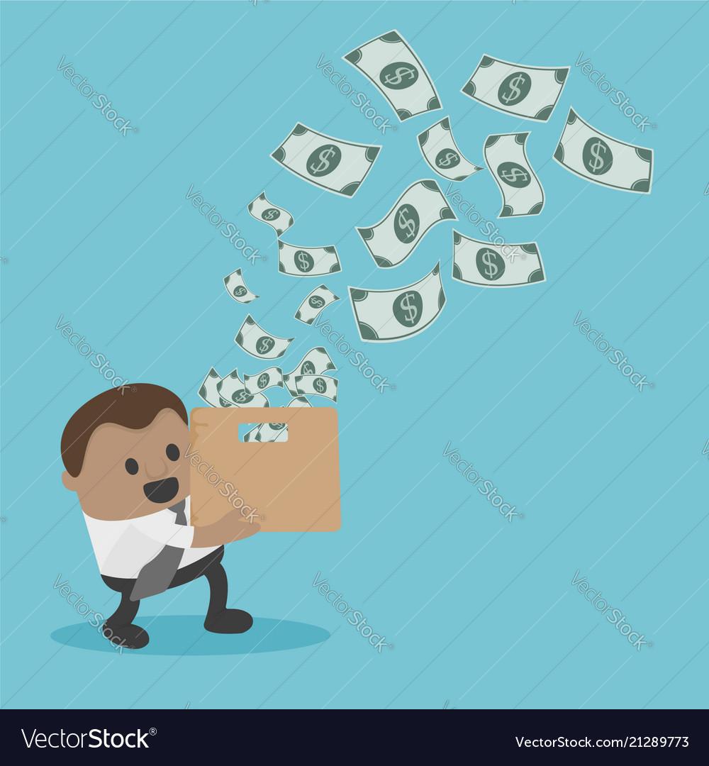 Business concept cartoon businessman for