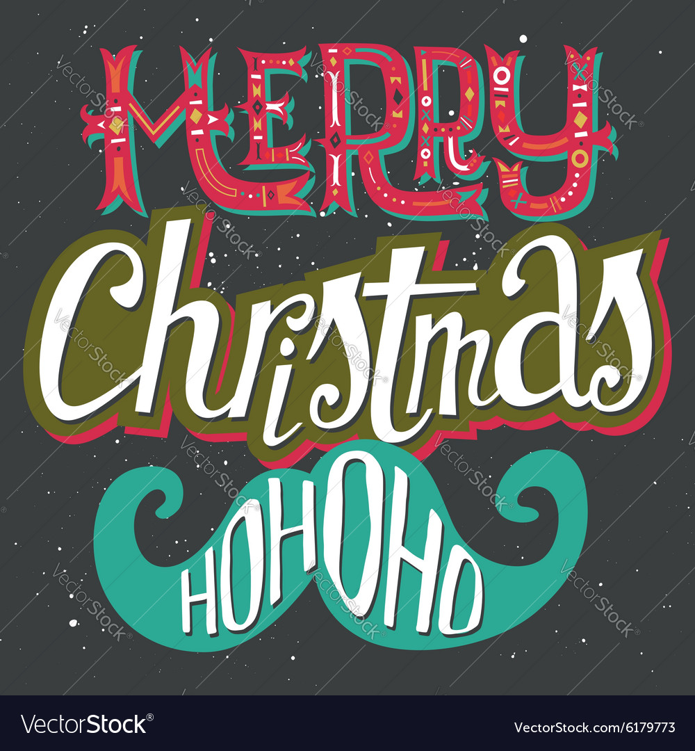 Christmas card Hand lettering Decorative pattern