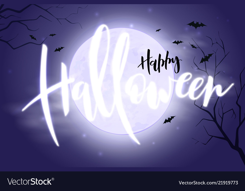 Halloween poster with hand lettering