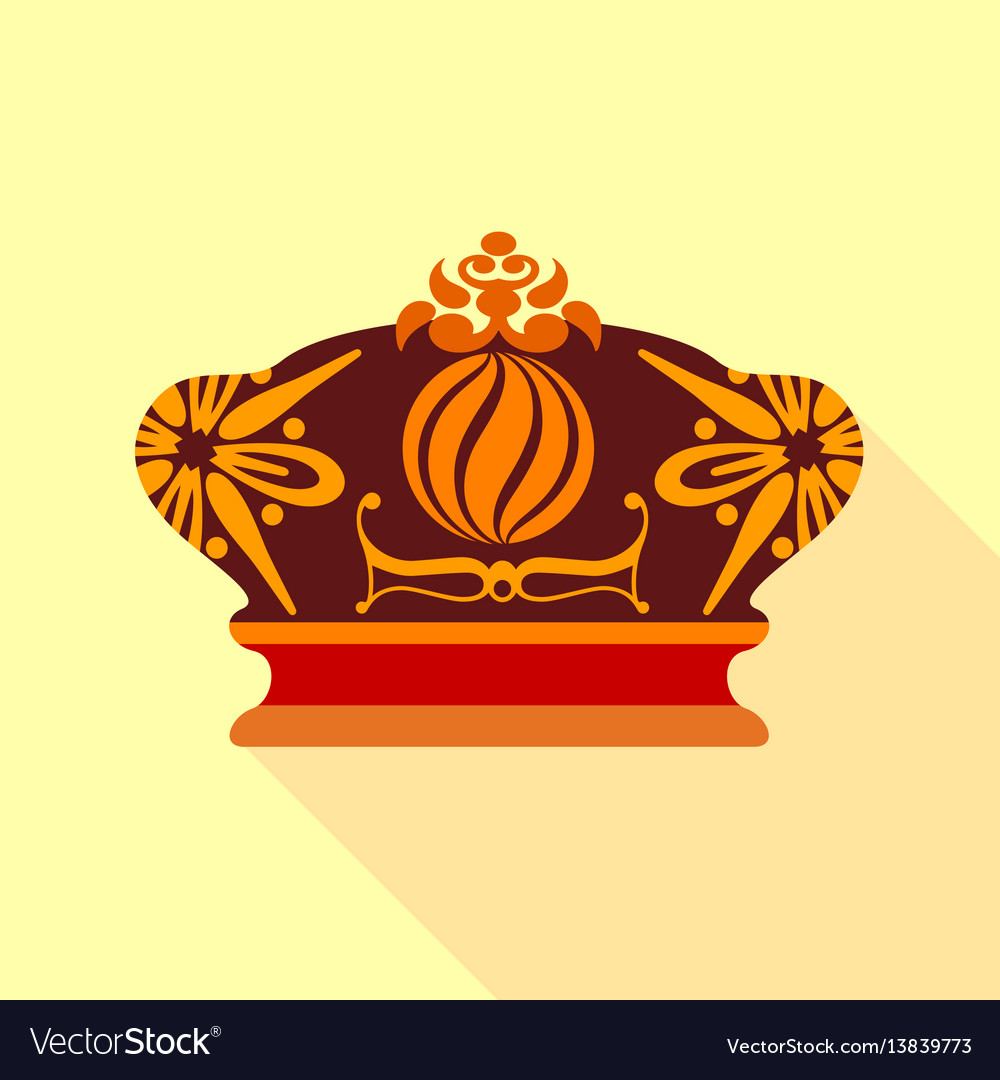 Imperial crown icon flat style vector image