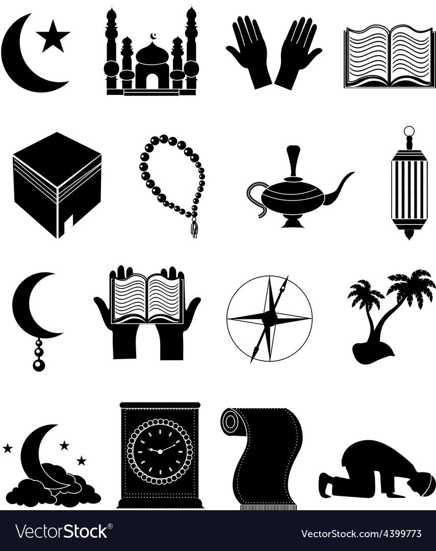 Islam icons set