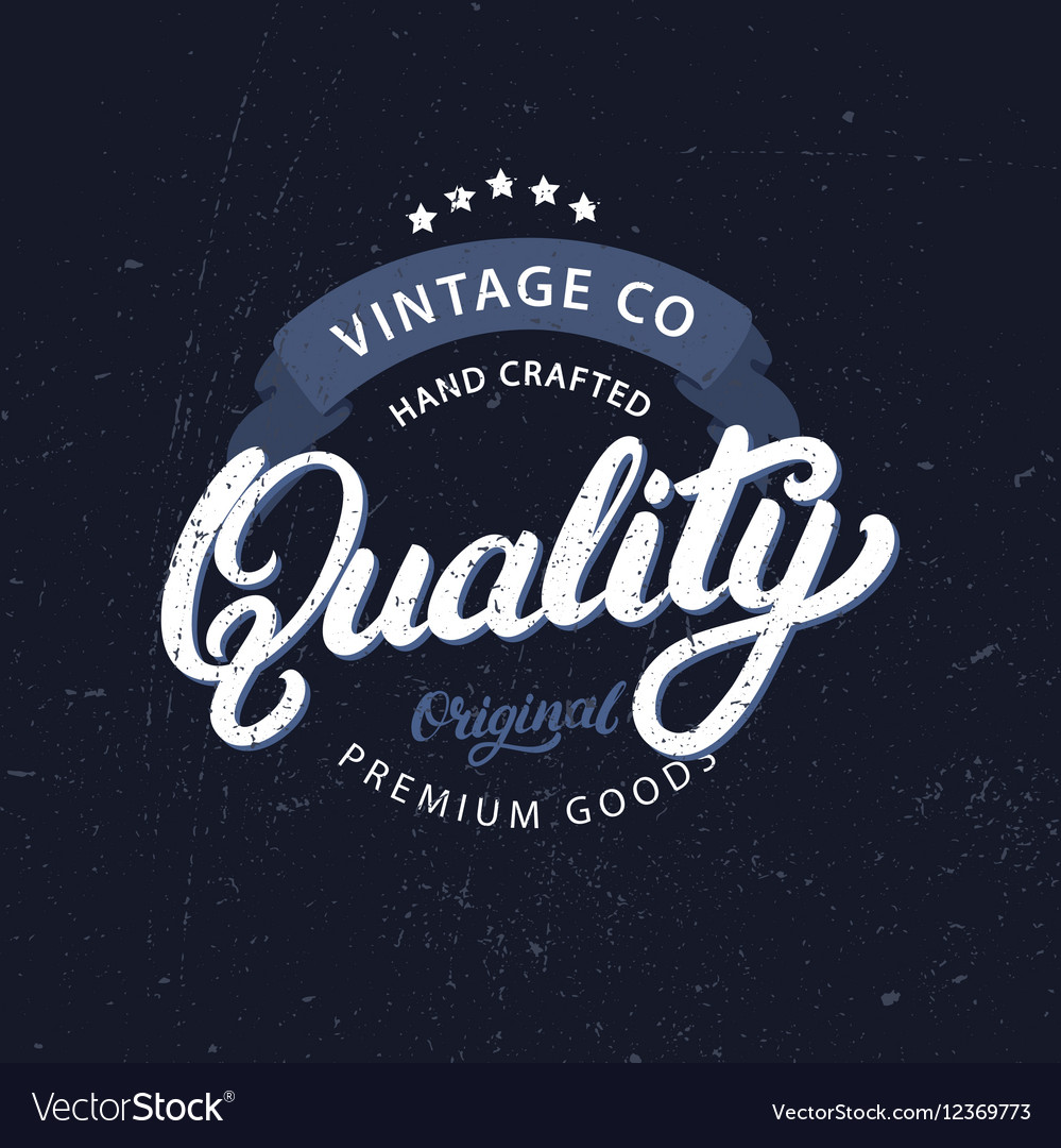 Quality hand written lettering