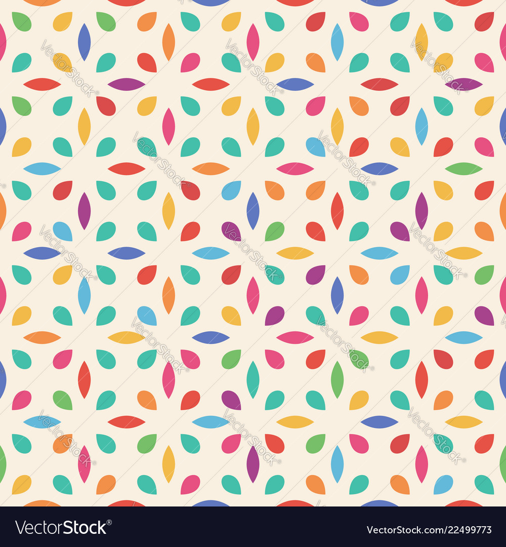 Seamless flower pattern leaf and drop