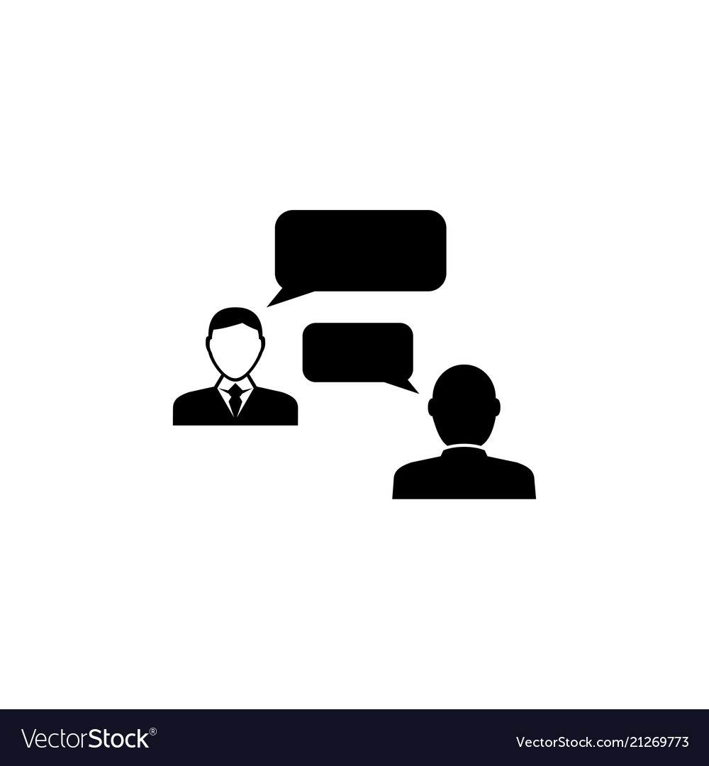 Speaking people talking chat flat icon