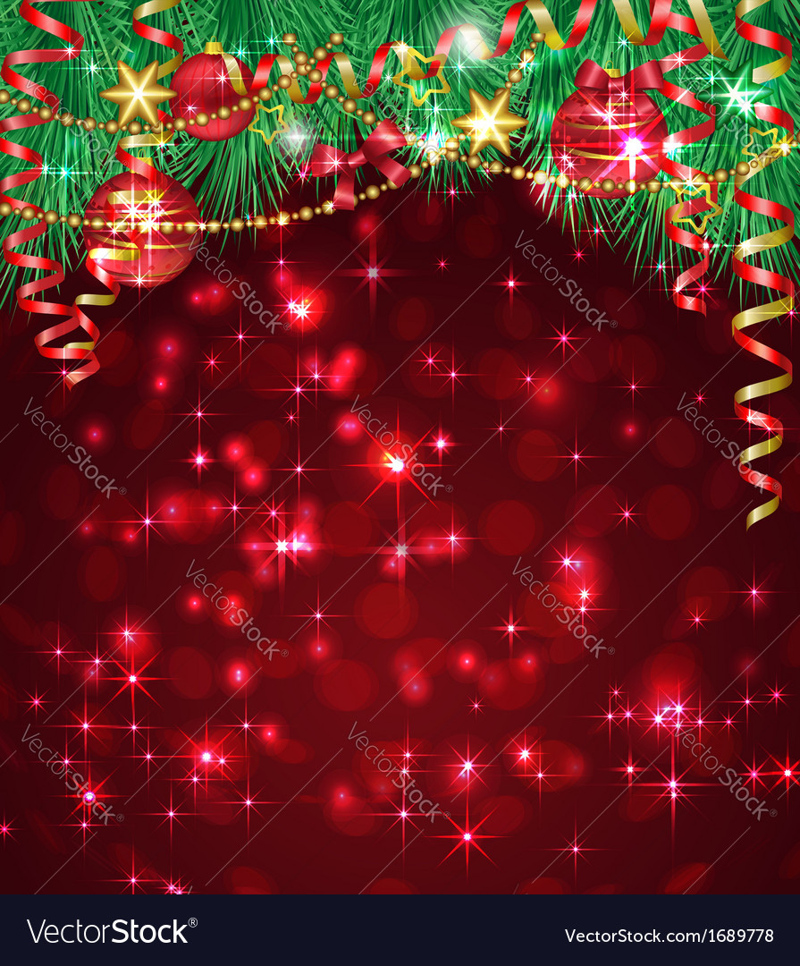 Christmas background with bright baubles