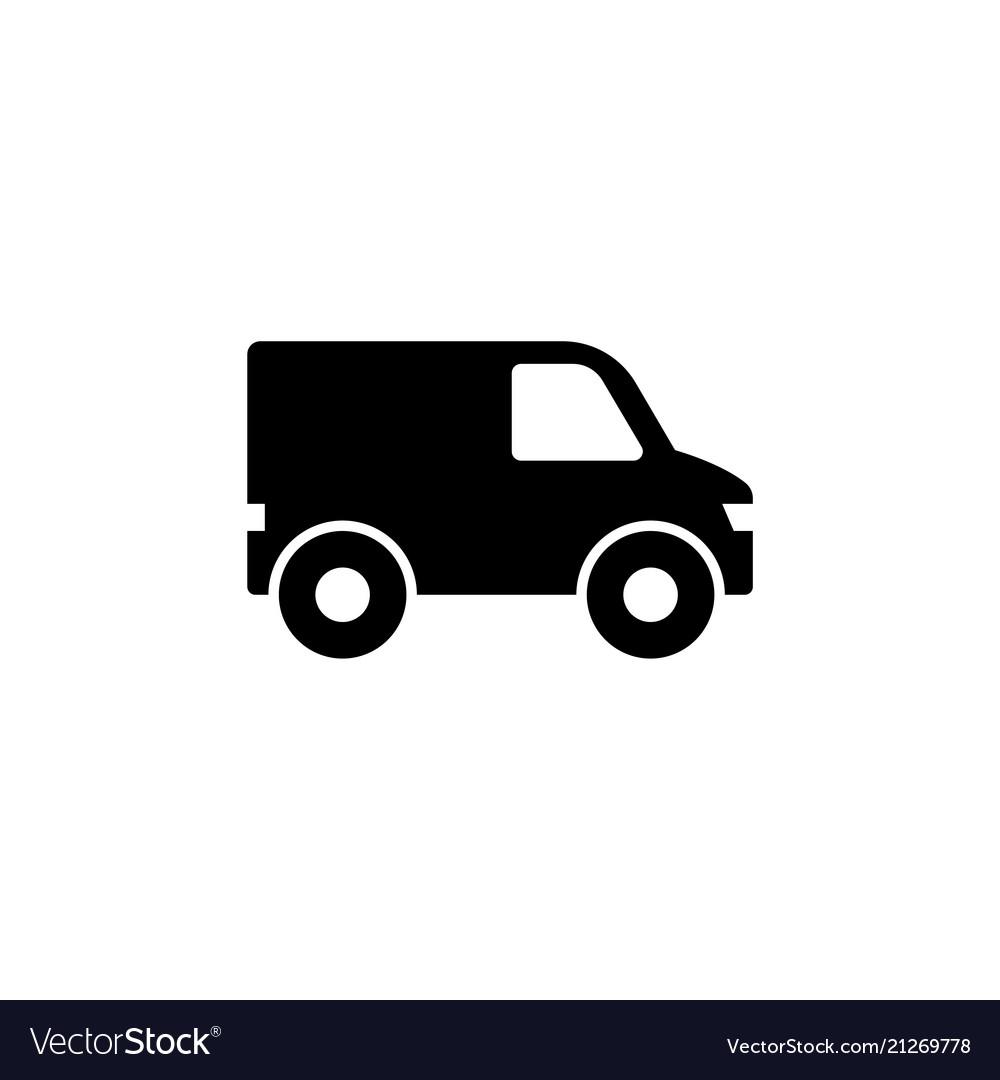 Minibus van mini bus flat icon