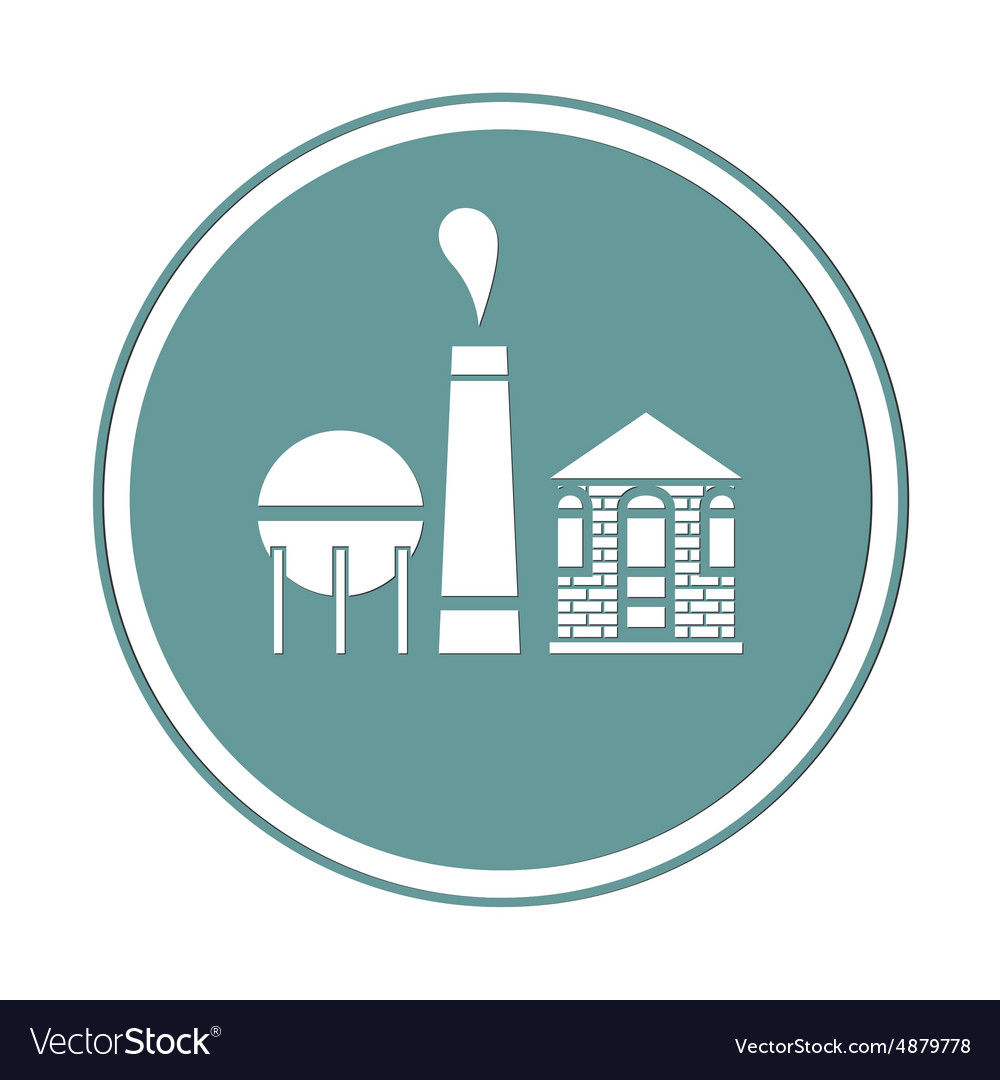 Old factory icon vector image