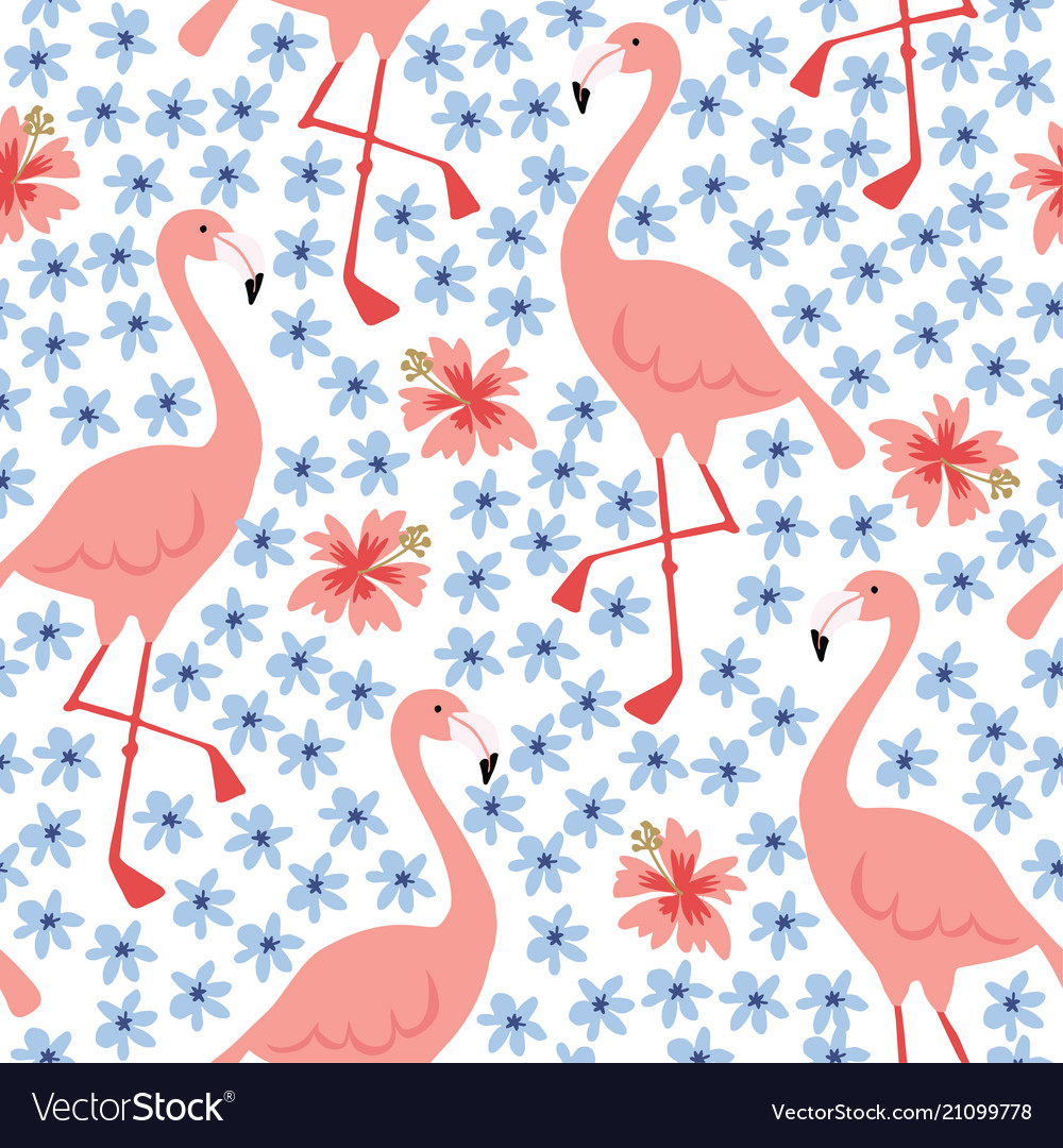 Tropical jungle seamless pattern with hand drawn