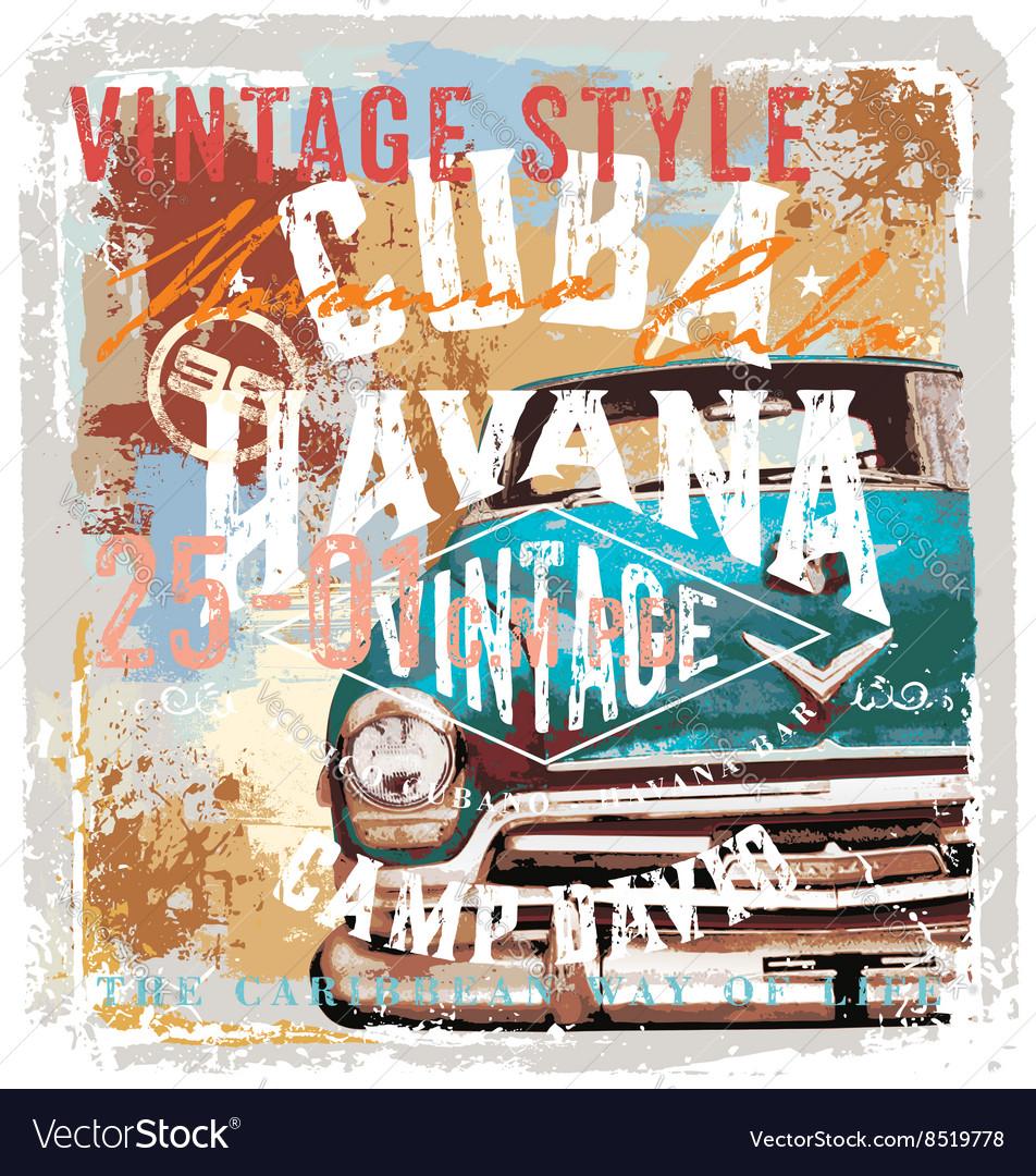Vintage cuba style
