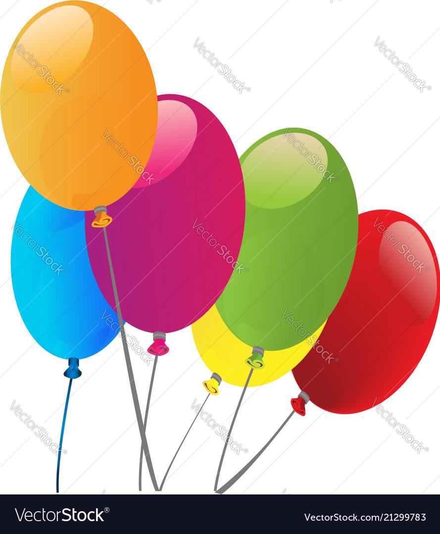 Balloons celebration template