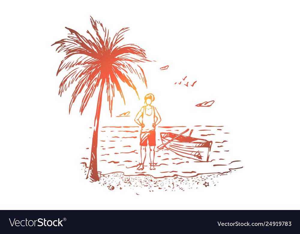 Beach australia summer ocean holiday concept