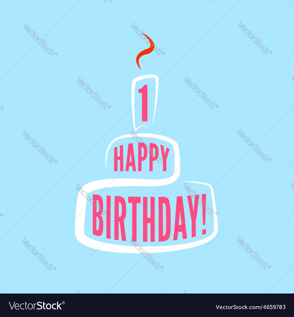 Birthday greetings modern poster template vector image m4hsunfo