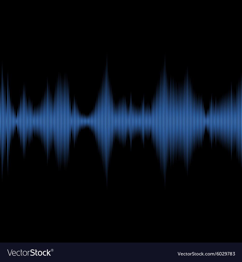 Blue Sound Waves Oscillating Equalizer on Black