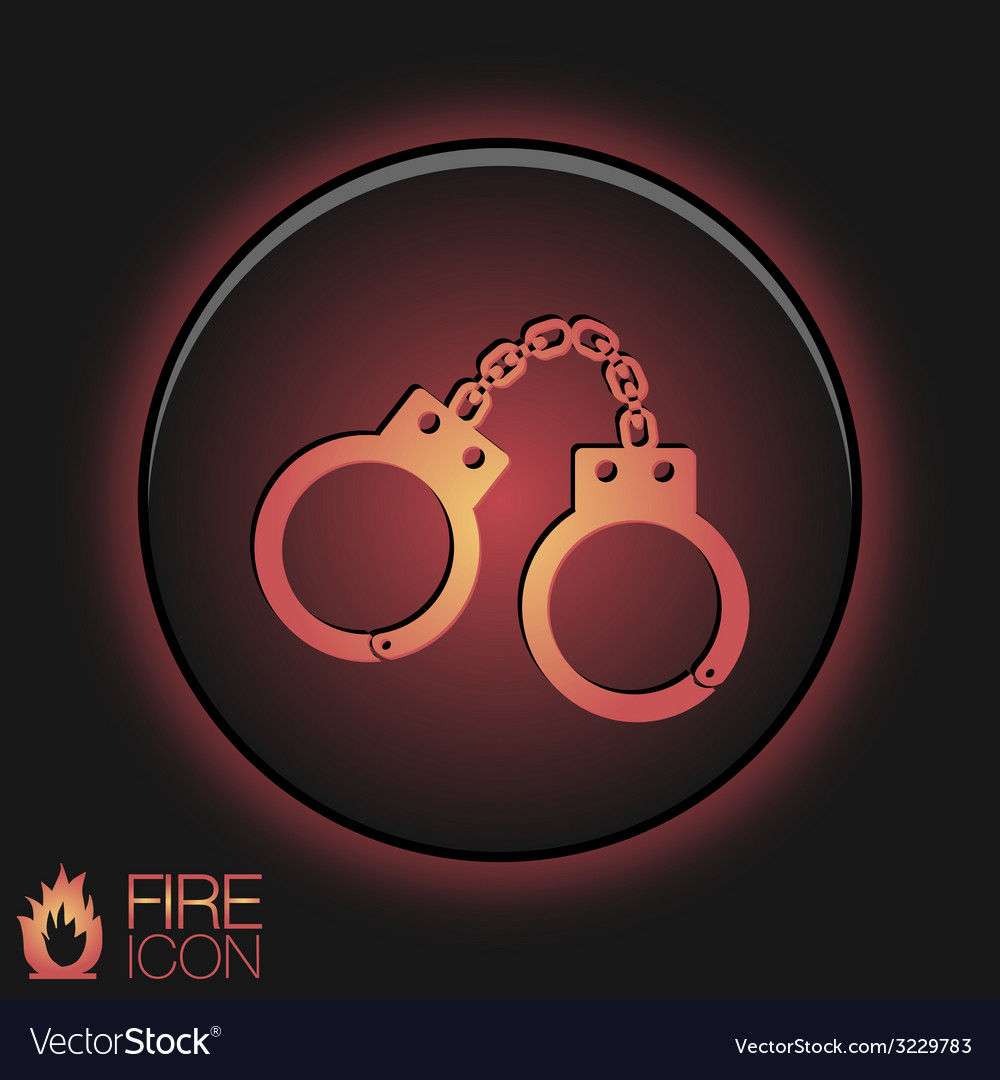 Icon handcuffs symbol of justice police icon