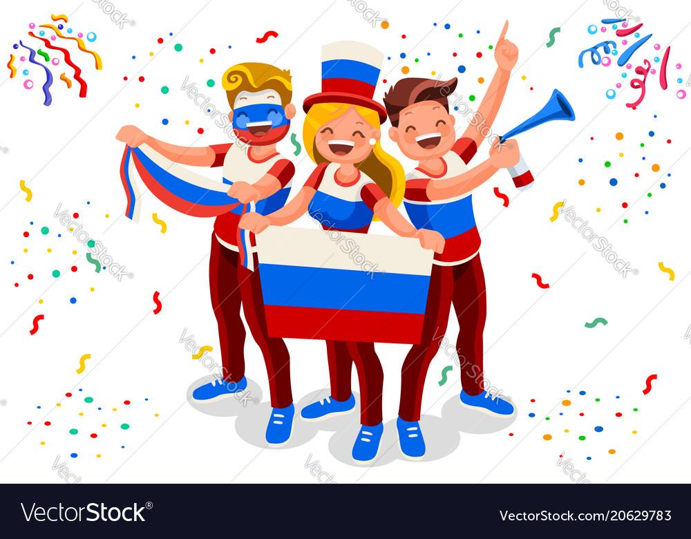 Russian football team flag