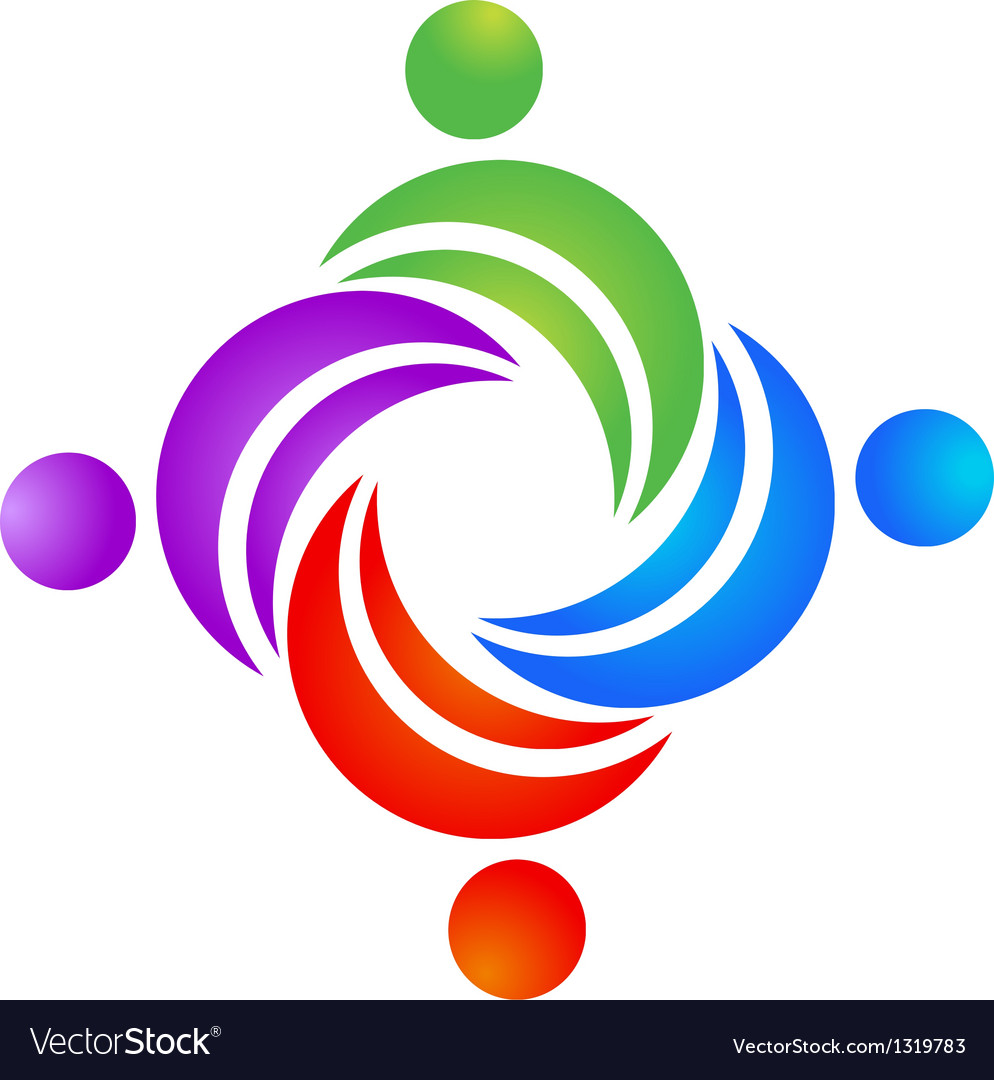 Teamwork leader logo vector image