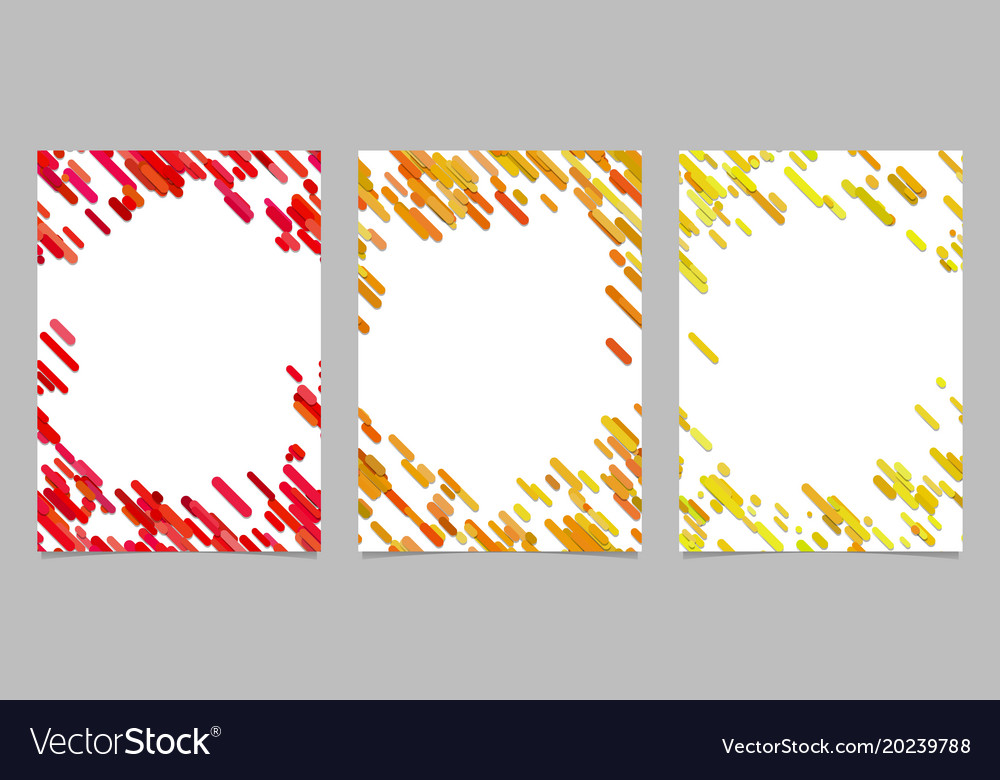Abstract brochure template set with colored