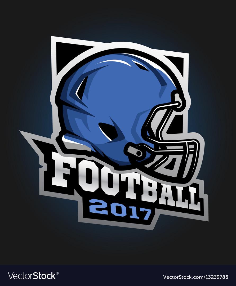 American football helmet games 2017 emblem