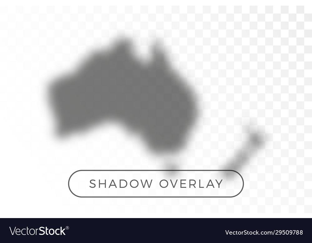 Australia world map shadow realistic grey