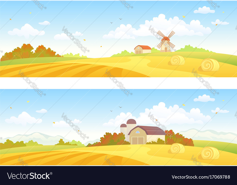 Autumn fields banners