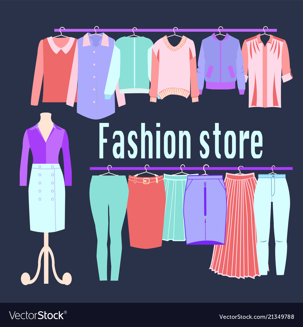 Boutique fashion clothing store background
