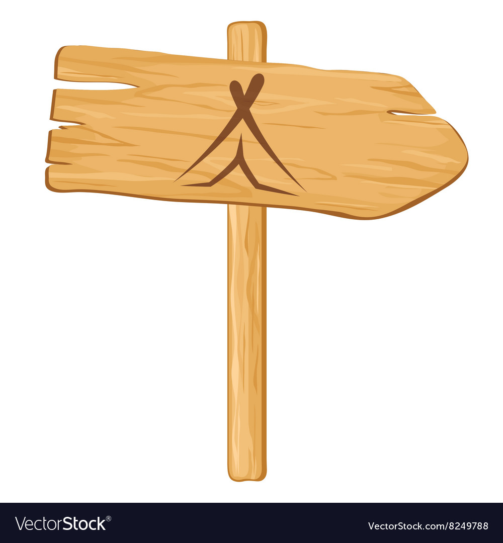 Camping wooden pointer