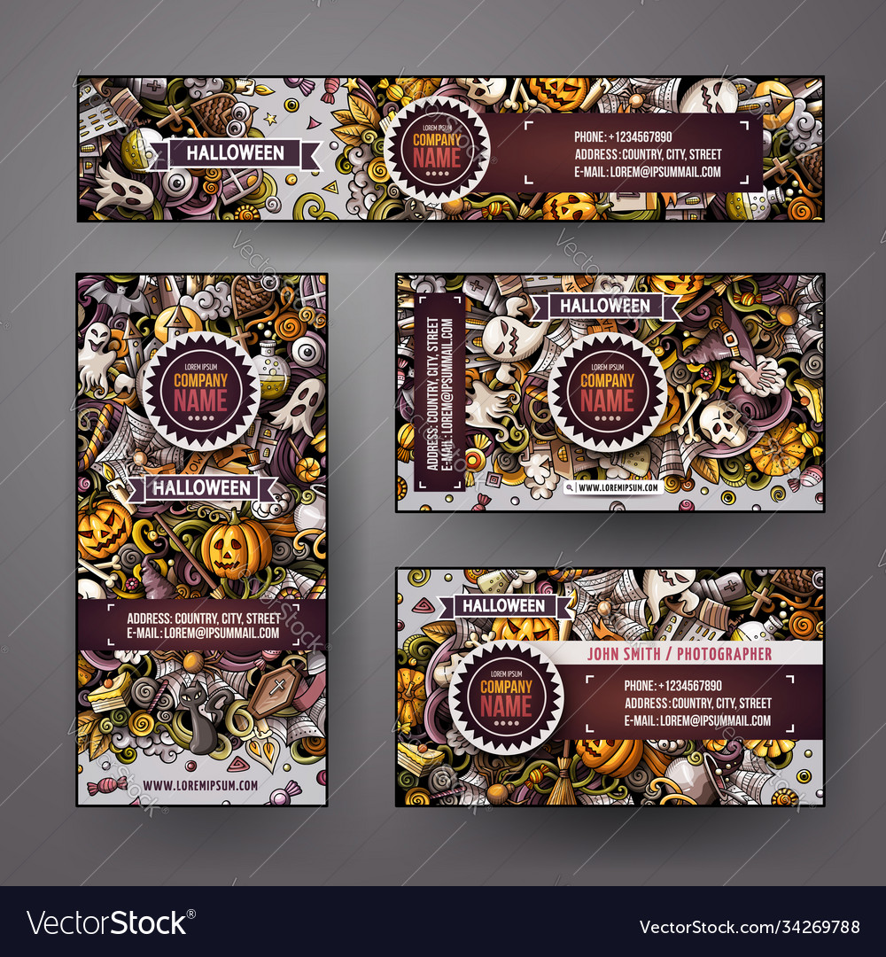Corporate identity templates set design with