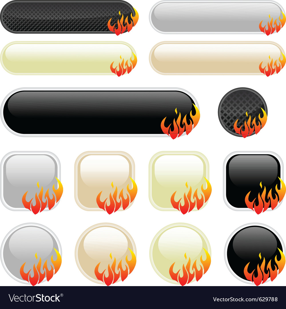 Flame banner elements