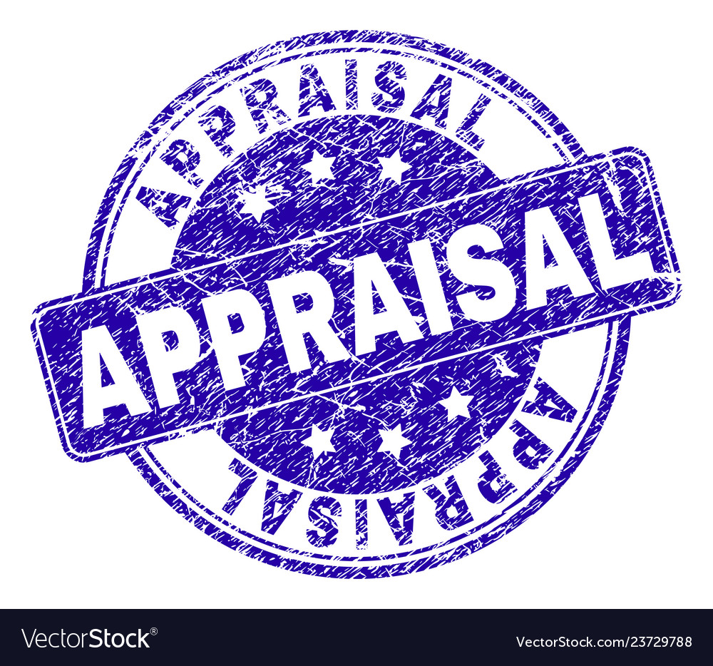 Grunge textured appraisal stamp seal vector image on VectorStock