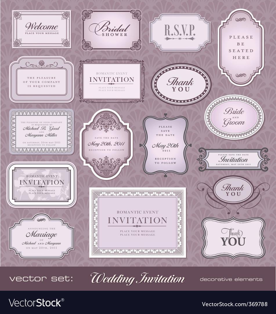 Invitation design elements