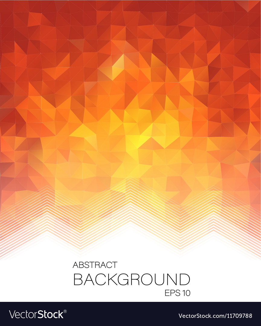 Red low poly style letterhead graphic design