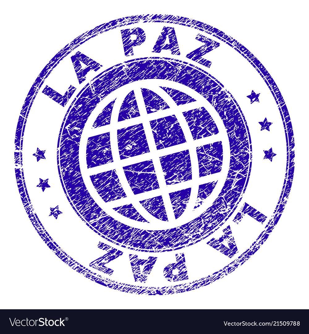 Scratched textured la paz stamp seal