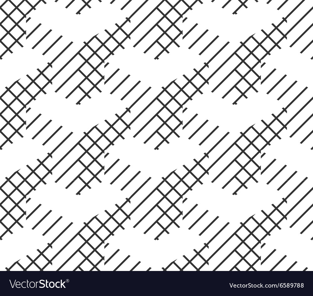 Seamless Geometric Pattern Black And White Lines