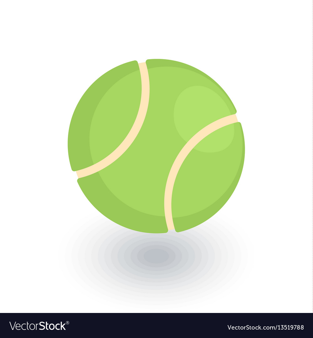 Tennis ball isometric flat icon 3d vector image