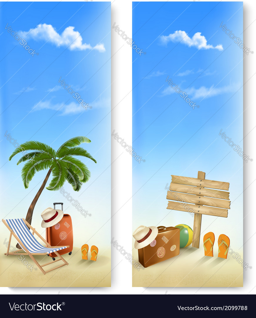 Two summer travel banners