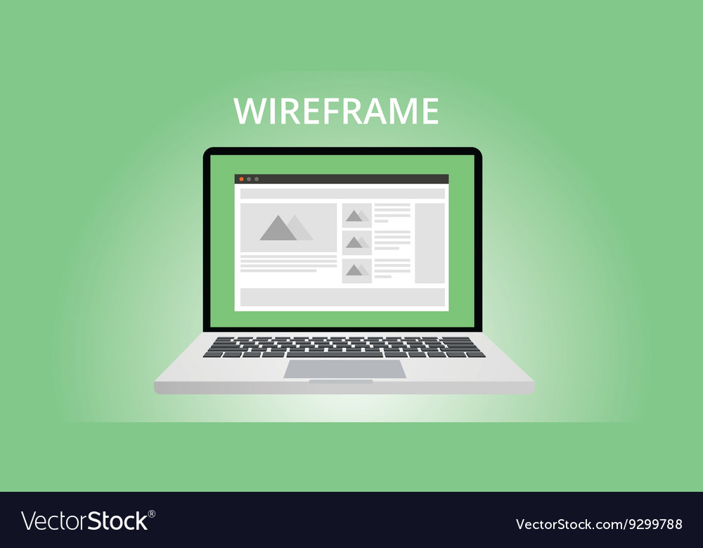 Website wireframe development
