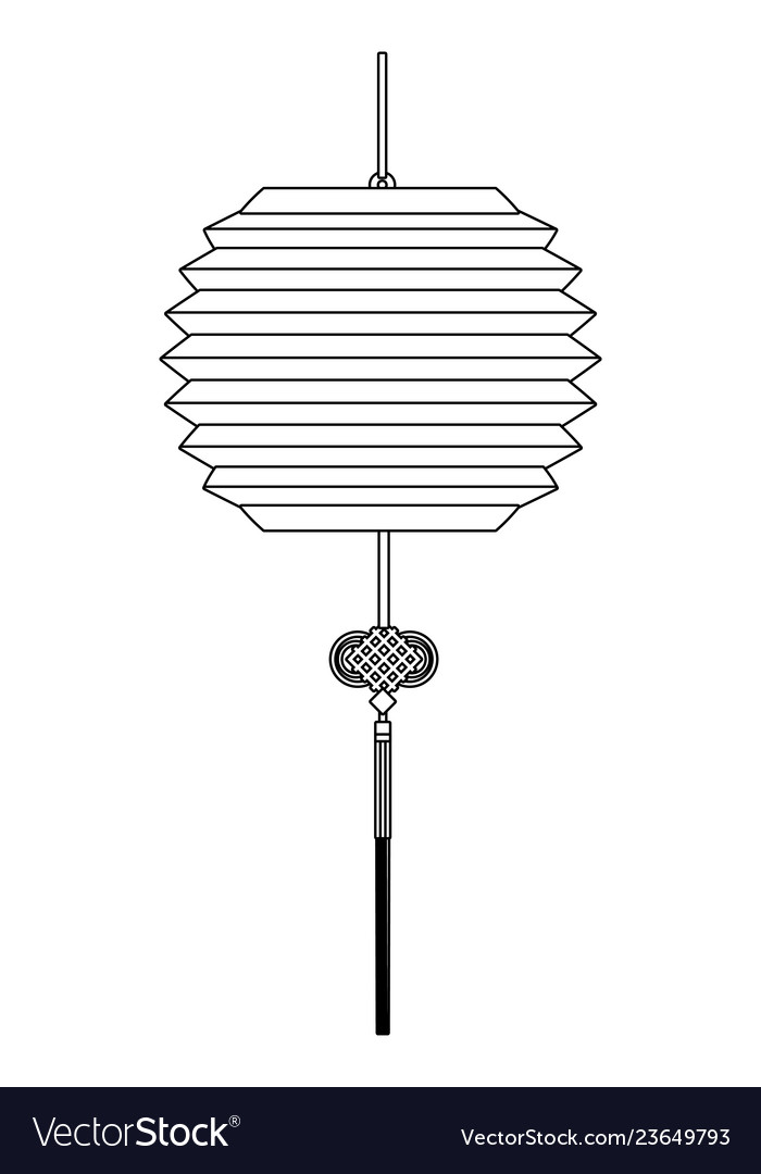 Asian paper lantern cartoon