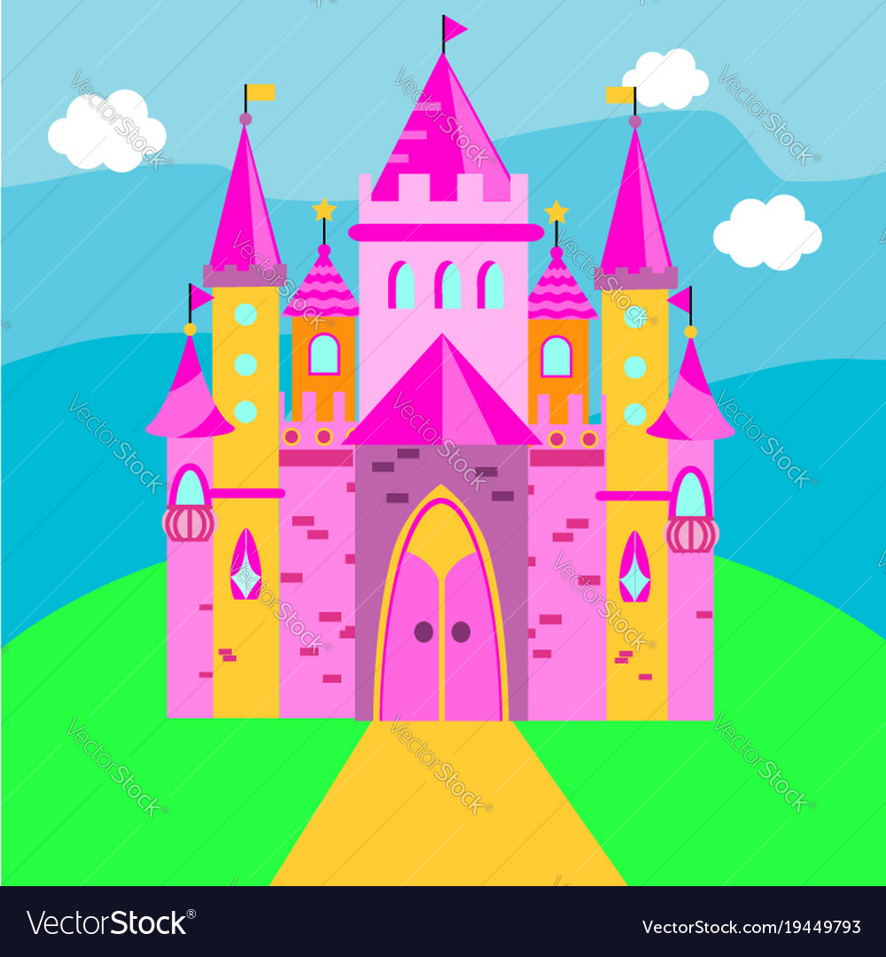 Fairy castle pink palace for