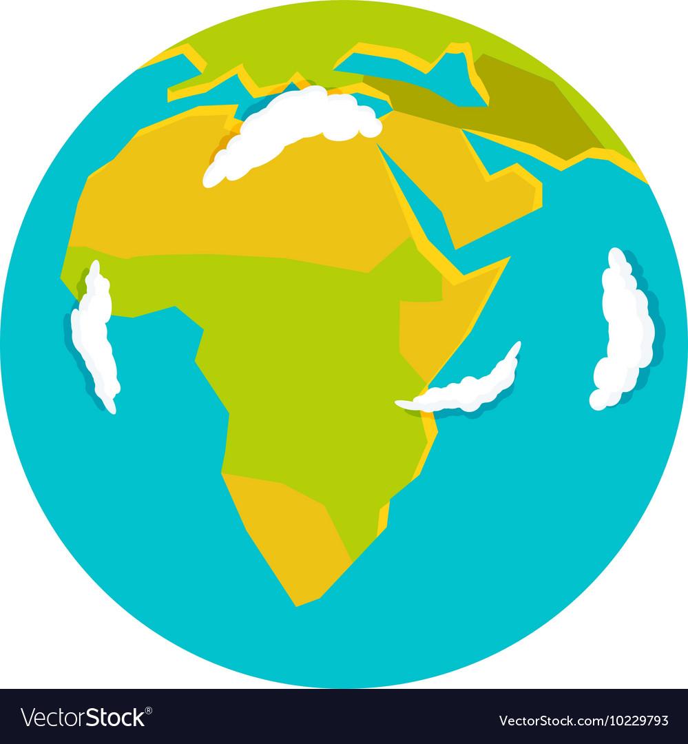 globe earth icon royalty free vector image vectorstock rh vectorstock com free vector globe terrestre free vector globe images