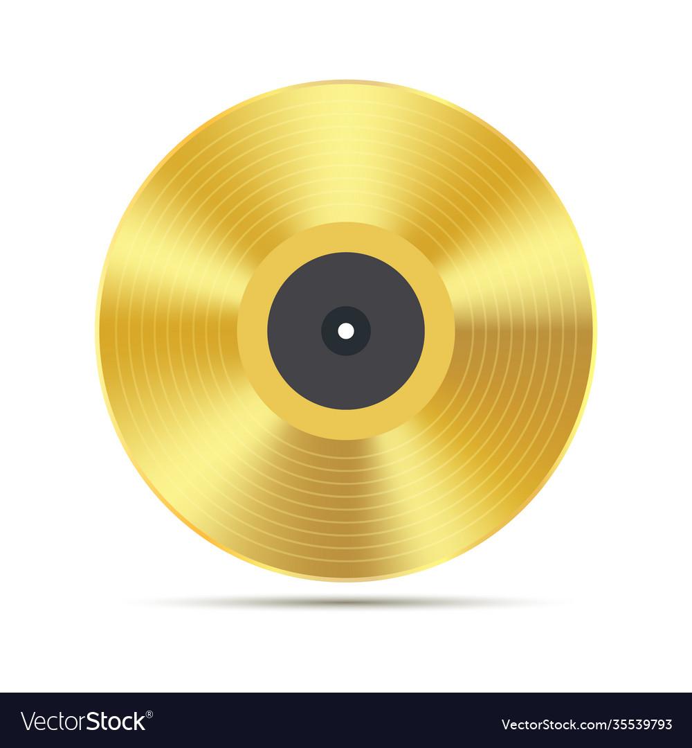 Gramophone golden vinyl disco record album music
