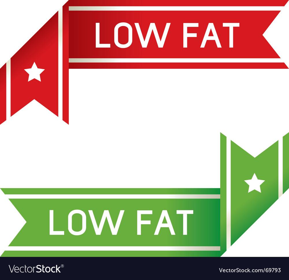 Low fat food label