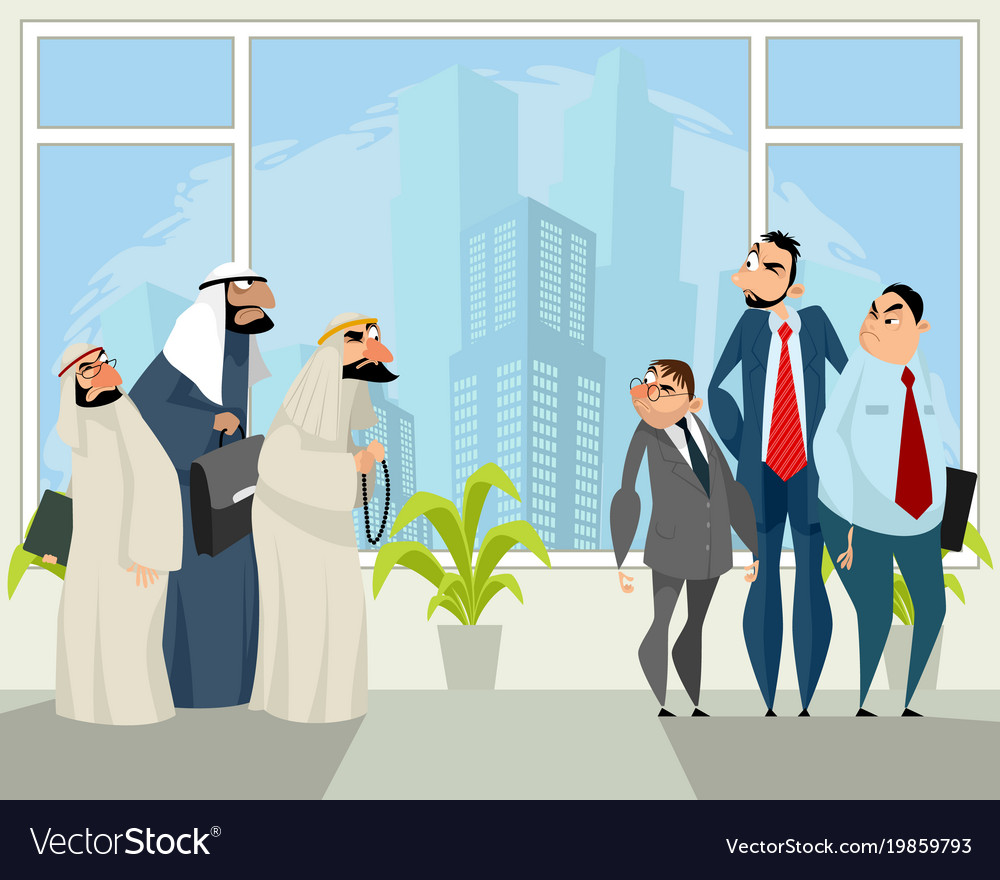 Mutual distrust business partners vector image