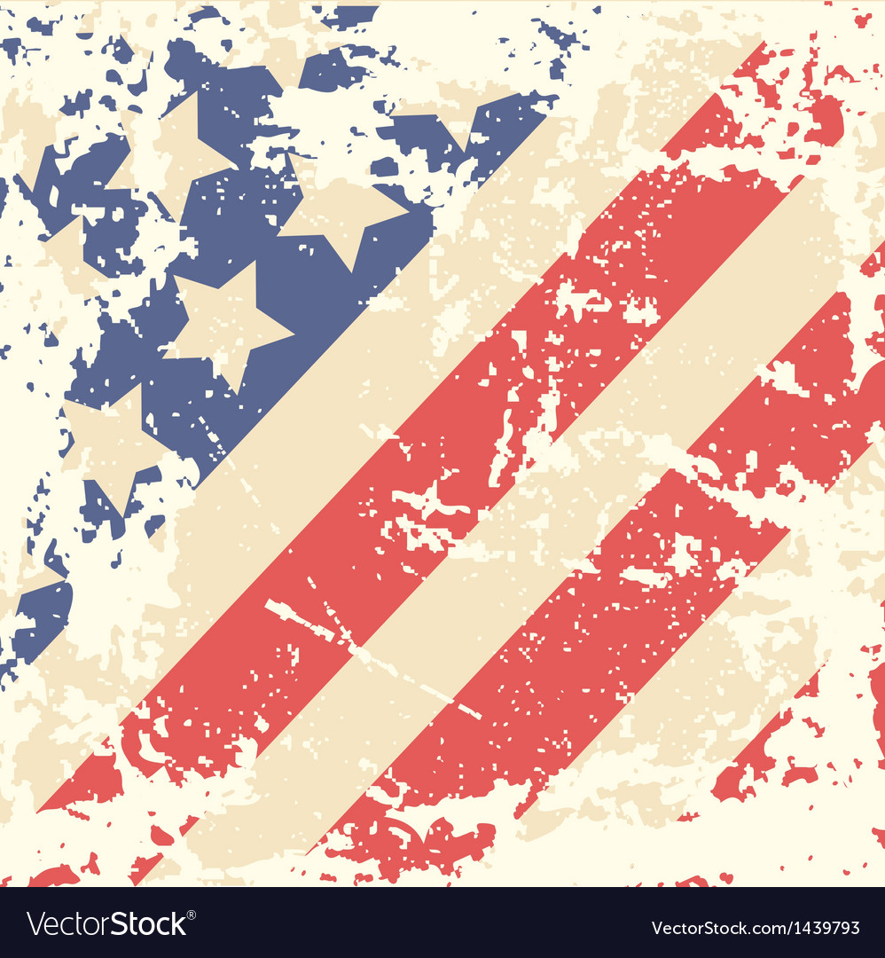 Retro Background with American Flag vector image