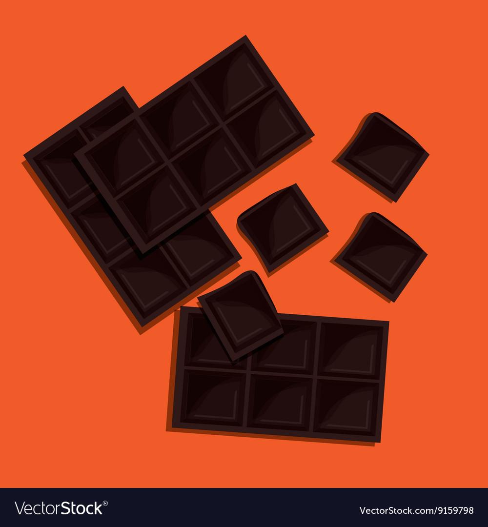 Chocolate design dessert icon Colorfull vector image