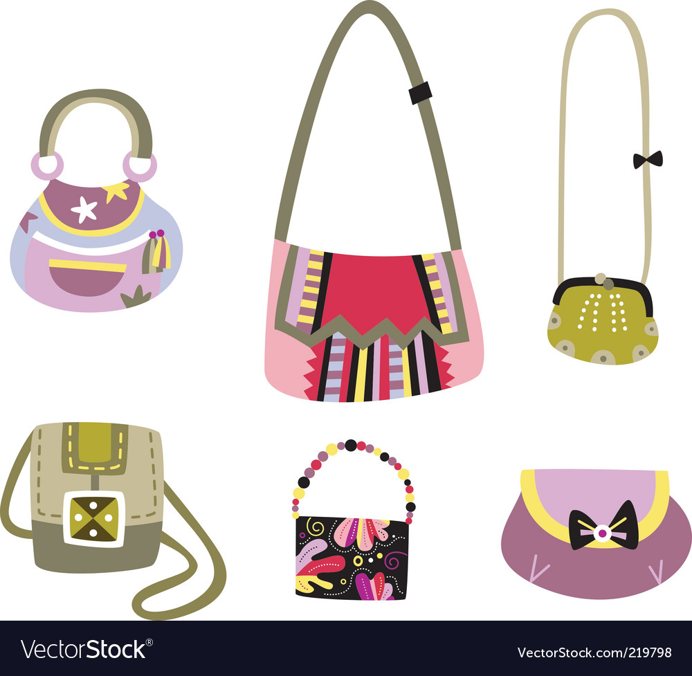 Cute bags vector image