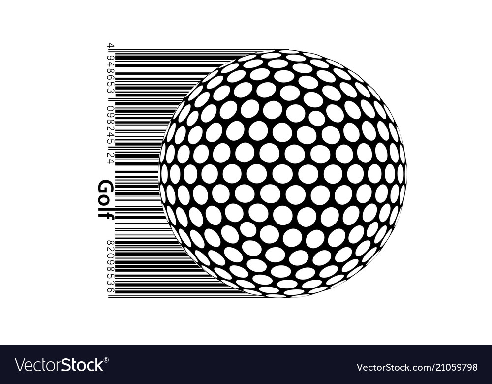 Silhouette of a golf ball