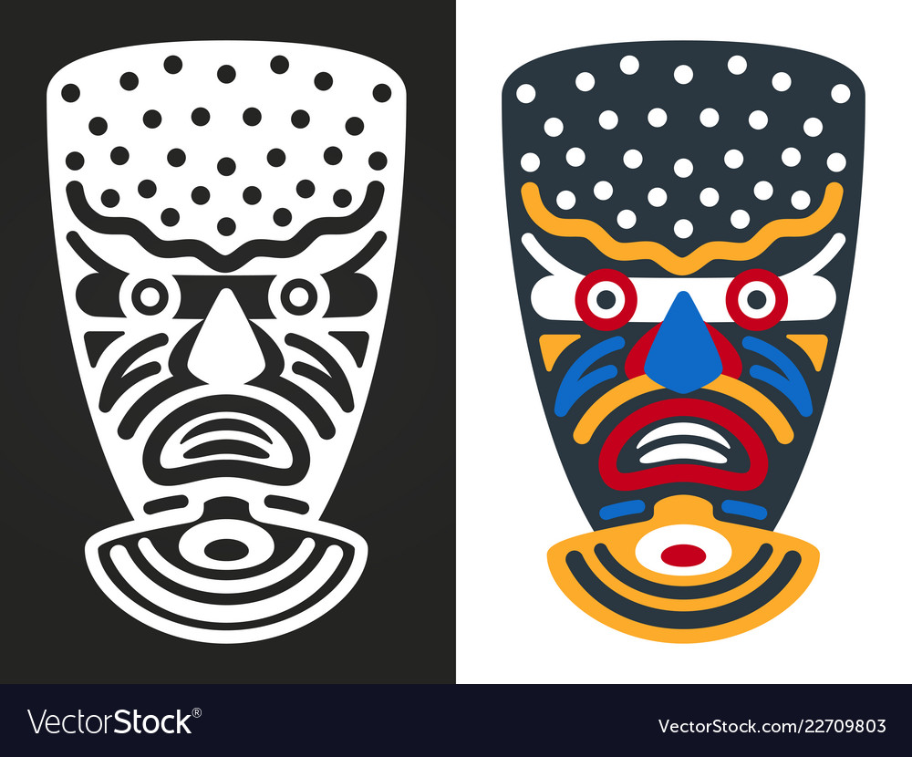 Angry african tribal masks