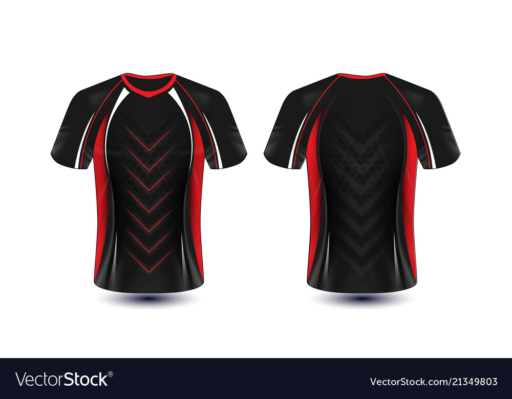 87749dc23 Black red and white layout e-sport t-shirt design
