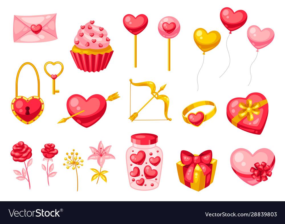 Happy valentine day set
