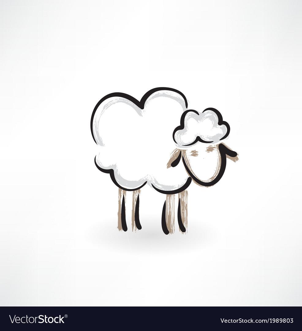 Lamb grunge icon vector image